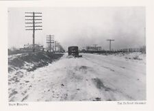 "*Postcard-""Snow Removal"" -@ Coleman Dr.,1927- ...Dupont Highway/DE- (#217)"