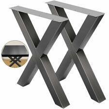 VEVOR 72x60cm Pieds de Table en Métal - Noirs (2 Pièces)