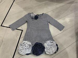 Girls Designer Kate Mack Biscotti Dress Age 5 Years