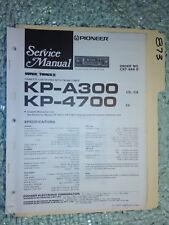 Pioneer kp-a300 4700 service manual original repair book stereo car radio tape