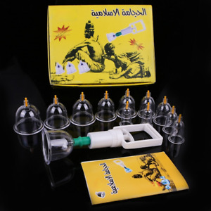 Cupping 12 Cans Vacuum Massager Medical Cups  Massage Physical Ventosa Therapy