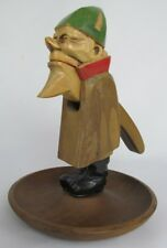 VINTAGE 10 INCH GERMAN CARVED WOODEN GNOME NUTCRACKER SIGNED WILLY THÖNE