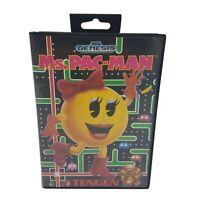 MS PAC MAN - Sega Genesis - Complete in Box - CIB - Cleaned & Tested EUC