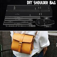 Leather Craft Clear Acrylic Shoulder Bag Handbag Pattern Stencil Template DIY