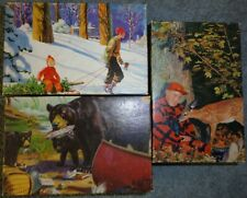 Lot of 3 Vintage Tuco Tripl -Thick Miniature Puzzles Unopened Still Sealed