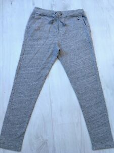 Jack Wills Mens Grey Casual Cotton Joggers Lounge Trousers Size Medium M