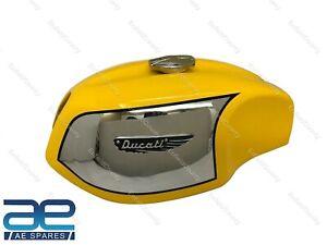 For Ducati 750 GT 1972 Model Fuel Gas Petrol Tank Steel Yellow Painted + Cap ECs