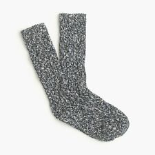 (2) Pairs J.Crew Marled Cotton Socks | Navy | Made in USA | $39