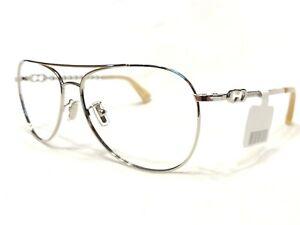 NEW Coach HC1078 13 Womens Silver Aviator Designer Rx Eyeglasses Frames 59/14