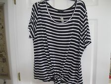 CHA CHA VENTE, PLUS, STRIPED SHORT SLEEVE WITH FRONT TIE KNIT, 2XL,  NEW W/TAGS