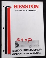 GENUINE HESSTON 5200 ROUND-UP BALE MOVER TRAILER OPERATORS MANUAL