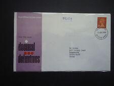 GB 1971 10p Definitive Orange/Brown (Windsor FDI) FDC