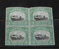 North Borneo 1909-23 RARE SG 163 block of 4 MNH ! CV $ 600