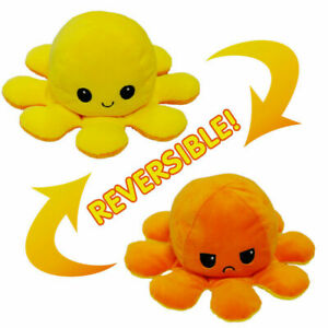 Moody Octopus Reversible Plush Toy Happy/Angry Developmental Toy Present