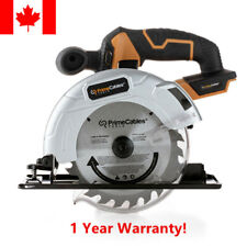 "PrimeCables® 6 ½"" Cordless Circular Saw with 20V Lithium-ion Battery & Charger"