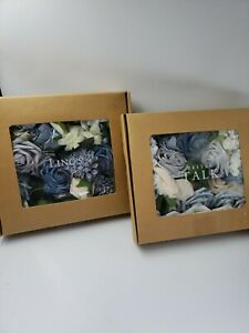 Ling's Moment Loose Flowers/Cornflower, Ocean Blues, Blush and Ivory
