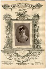 Lemercier, Paris-Théâtre, Berthe Girardin dite Berthe Stuart, actrice Vintage Al