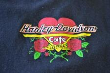 Harley Davidson Cafe Motorcycle Las Vegas Heart Black Tank Top Shirt Women's L