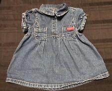 Guess Baby Girl Denim Shirt Sleeve Dress Size 6/9 Months