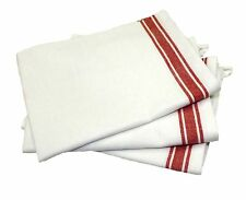 Aunt Martha's Vintage 1930's Striped Towels - Red