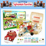 NEW SYLVANIAN FAMILIES CARAVAN + FAMILY SALOON CAR COMBO SET DEAL 5045 4611