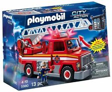 Playmobil #5980 Fire Truck Rescue Ladder Unit - New Factory Sealed