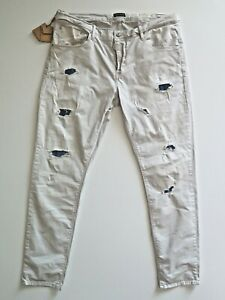 "ANTONY MORATO Men's ""Duran"" Stretch Carrot Destroyed Jeans Size IT54 - W38 L32"