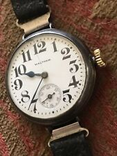 Waltham Silver Manual Wind 'Trench' Watch - A.W.C.Co Sterling. Running.