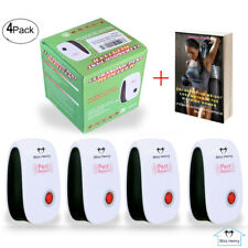 4 Pack Ultrasonic Pest Repeller Electronic Ultrasound Spiders Mouse Roach Reject