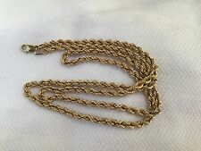 "10K YELLOW GOLD * 20"" ROPE CHAIN NECKLACE~ LOBSTER CLASP ~ 4.0g NOT SCRAP"