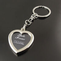 Metal Heart Insert Photo DIY Picture Frame Custom Keyring Keychain Key Ring