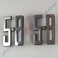 5.8 Guard Badges x2 (pair) Chrome Brand NEW , for Ford XC Falcon GT 351 fender