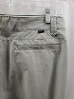Oakley Golf Pants Flat Front Nylon Stretch Slacks RN 96548 Gray/Khaki Mens 30x31