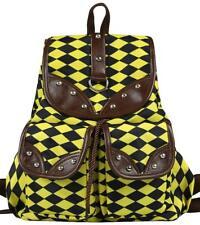 C&G Thickened Nylon Waterproof Casual Backpack School Bag Print Yellow
