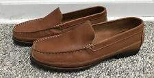 LADIES SIZE 9M EDDIE BAUER BROWN LEATHER SLIP ON LOAFERS 0704~GREAT COND!~