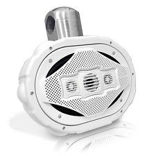 1 New Lanzar AQWB69W White 300Watts 6''x 9'' 4-Way Marine Wake Board Speaker
