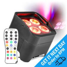More details for beamz bbp94 led wireless uplighter battery par light colour uv dmx wash