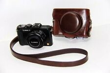 Leather Camera Bag Case Cover For Panasonic Lumix DMC LX5 LX7 LX3 Coffeefff