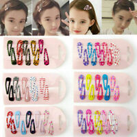 Lots 10Pcs Cute Girls Baby Kids Hair Clips Snap Slides Lovely Hairpin Headwear