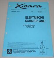 Werkstatthandbuch Citroen Xsara elektrische Schaltpläne Autoradio Stand 06/1999!