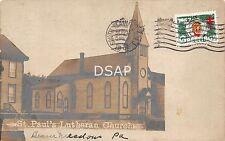 Pennsylvania Pa Postcard Real Photo Rppc Old Beaver Meadows St Pauls Church
