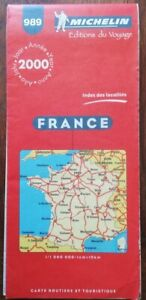 Rare carte MICHELIN 989 FRANCE 2000 COLLECTOR ( french map collection