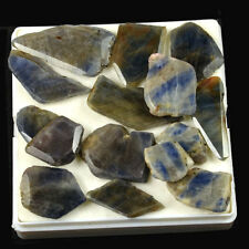459 CT/15 Pcs NATURAL UNTREATED UNHEATED SAPPHIRE FACETED ROUGH GEMSTONE LOT