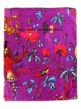 """Decorative Purple Bird Fabric 44"""" Wide Indian Cotton Fabric Crafting Sewing 1 Yd"""