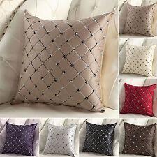 Diamante Cuadrado De Lujo Funda de Almohada Cubierta Cojín Suelto Cobertor Sofá Hogar Decoración