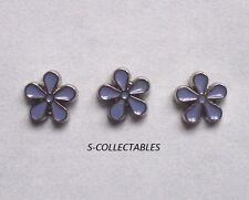 3 X Masonic Flower Forget Me Not Enamel Lapel Pin Badge