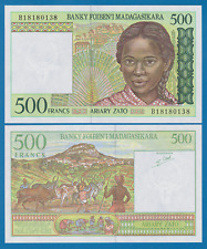 Madagascar 500 Francs P 75 b Signature 5 (= 100 Ariary) ND 1994 UNC Low Shipping