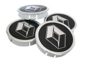 RENAULT Wheel Center Hub Centre Caps for Alloy Rims Set 4 x 60mm Alu Emblem