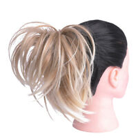 Synthetic Messy Hair Bun Straight Elastic Scrunchies Wrap For Ponytail Extension