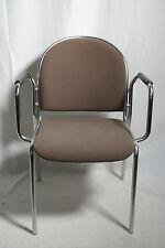 Klassiker! Besucherstuhl Stapelstuhl Mauser Stuhl mit Armlehnen, stapelbar.